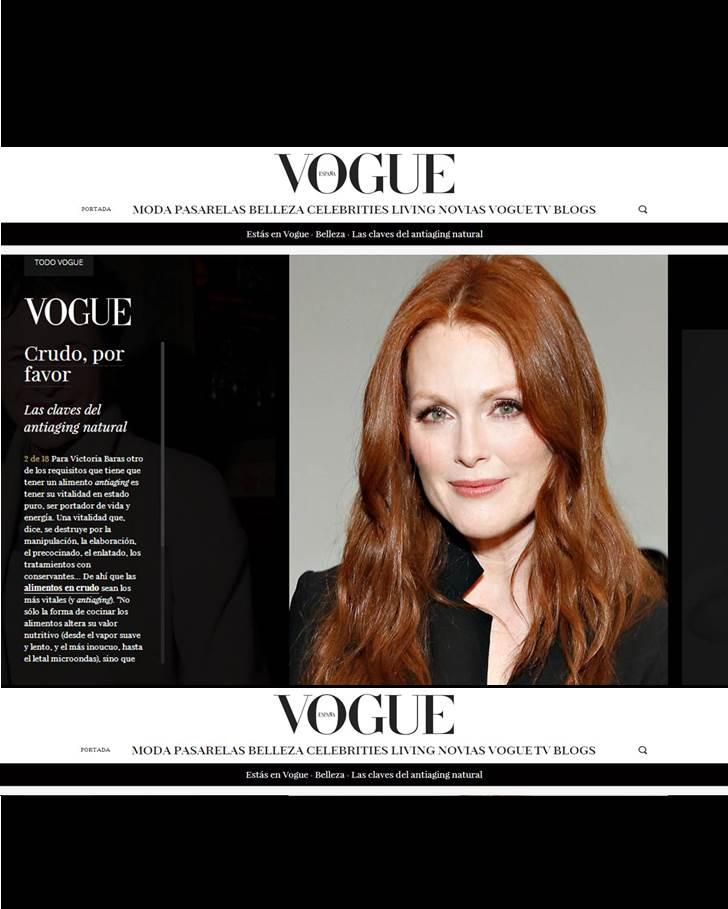 Entrevista Vogue Victoria Baras: Las Claves del Antiaging Natural